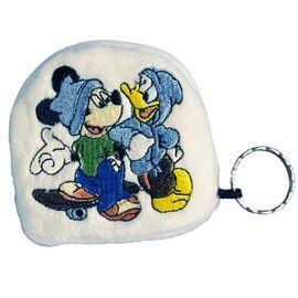Geldbörse - Kinder Geldbeutel Kinderportemonnaie Mickey & Donald Disney Wei? 7,5x7,0x1,5 cm