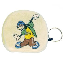 Geldbörse - Kinder Geldbeutel Kinderportemonnaie Goofy Disney Natur/Eierschale 7,5x7,0x1,5 cm